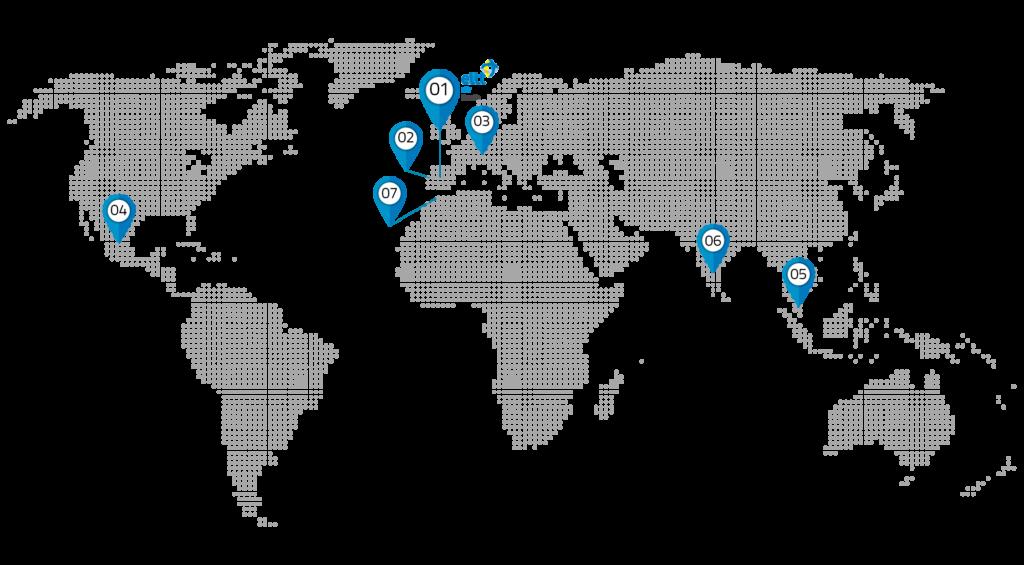 EIIT Mapa de sedes
